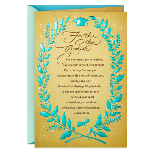 Life Is Filled With Blessings Religious Graduation Card for College Graduates