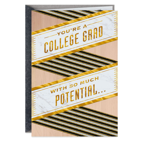 You Have So Much Potential College Graduation Card