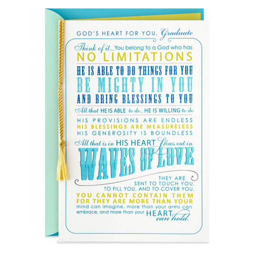 God's Heart for You Religious Graduation Card