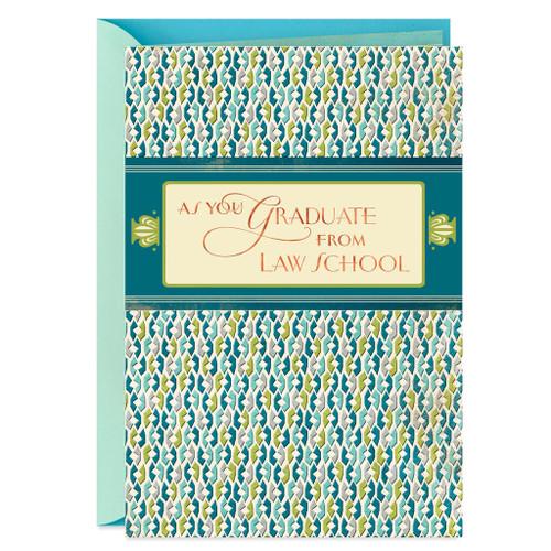 An Honorable Achievement Law School Graduation Card