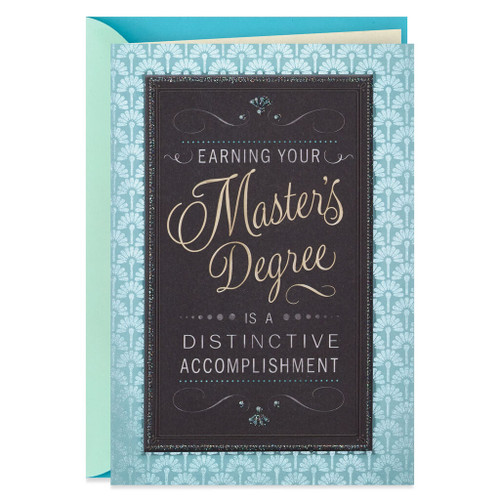Congratulations on Your Master's Degree Graduation Card