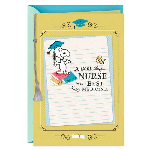 Snoopy Nursing School Graduation Card