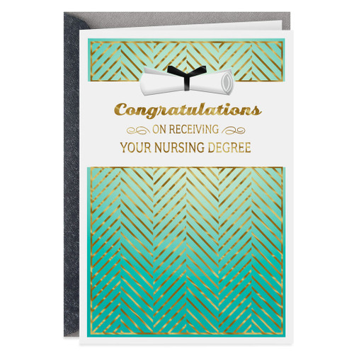 Nursing Degree Congratulations Graduation Card