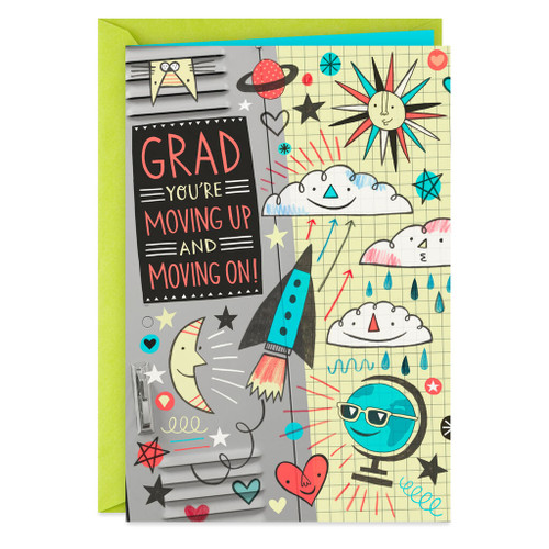 New Friends, Classes and Possibilities Graduation Card