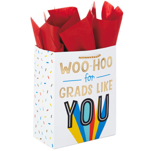 "9.6"" Woo-Hoo Graduation Gift Bag With Tissue"