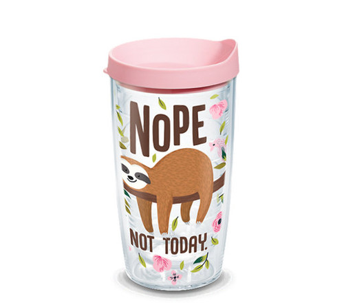 SLOTH NOPE NOT TODAY 16OZ