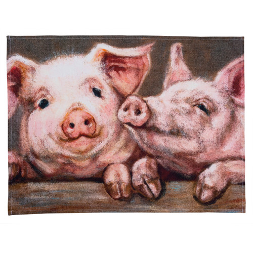 Dish Towel - Pigs