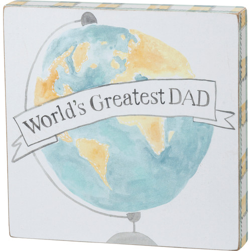 Block Sign - Greatest Dad