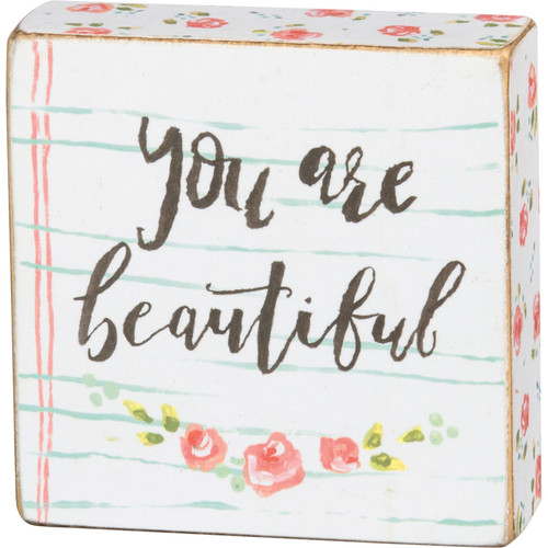 Block Sign - You Are Beautiful