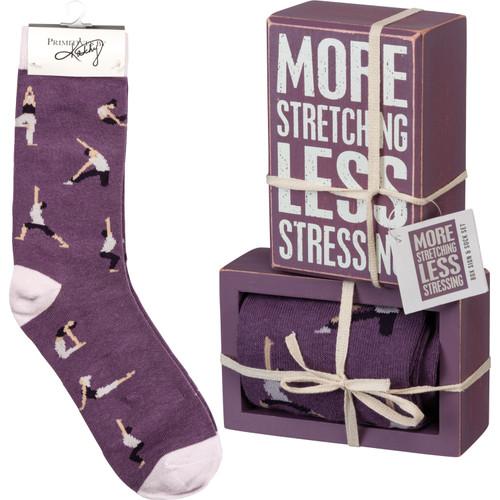 Box Sign & Sock Set - More Stretching