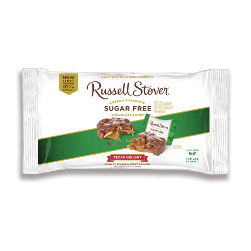 Russell Stover Sugar Free Chocolate Pecan Delights Bag 10 oz