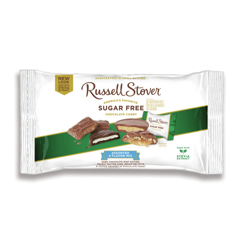 Russell Stover Sugar Free Assorted 4 Flavor Mix Bag 10 oz