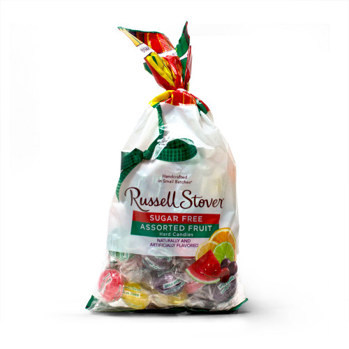 Russell Stover Sugar Free Assorted Fruit Hard Candies Bag 12 oz