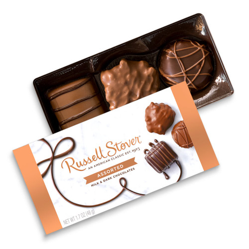 Russell Stover Assorted Milk & Dark Chocolates Box 1.7 oz