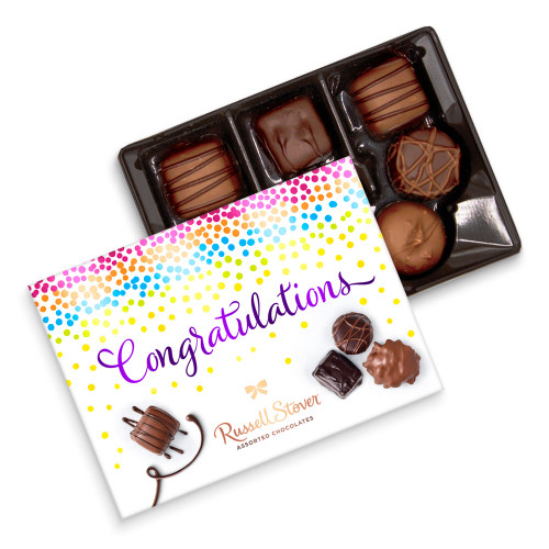 Russell Stover Assorted Chocolate Congratulations Gift Box 4.6 oz