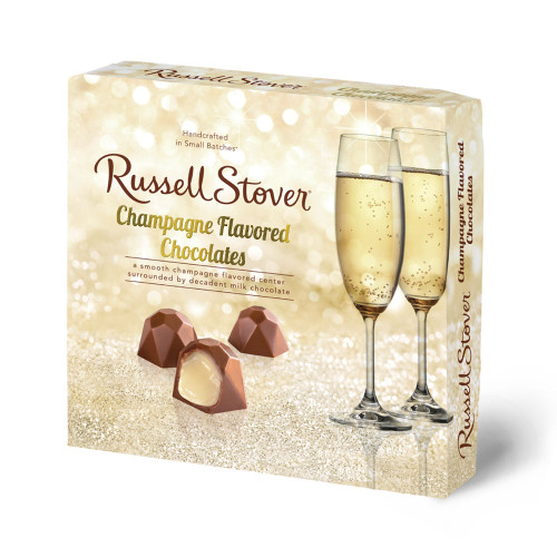 Russell Stover Champagne Flavored Chocolates Box 3.7 oz