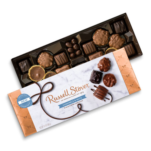 Russell Stover Caramels & Nuts Box 9.4 oz