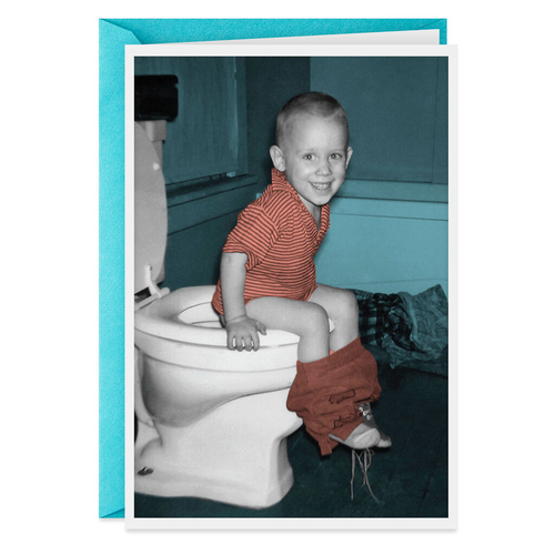 A Little Toilet Humor Funny Birthday Card