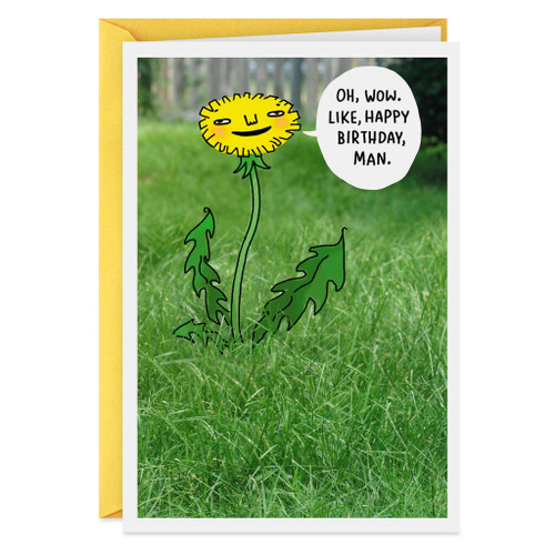 A Little Weed Birthday Card
