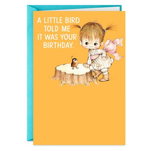 Little Bird Funny Birthday Card