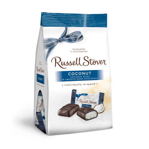 Russell Stover Coconut Bites Gusset Bag 6 oz