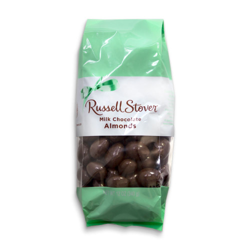 Russell Stover Milk Chocolate Almonds Bag 12 oz
