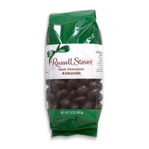 Russell Stover Dark Chocolate Almonds Bag 12 oz