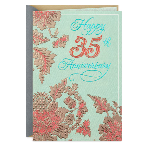 Celebrate the Life You've Built 35th Anniversary Card