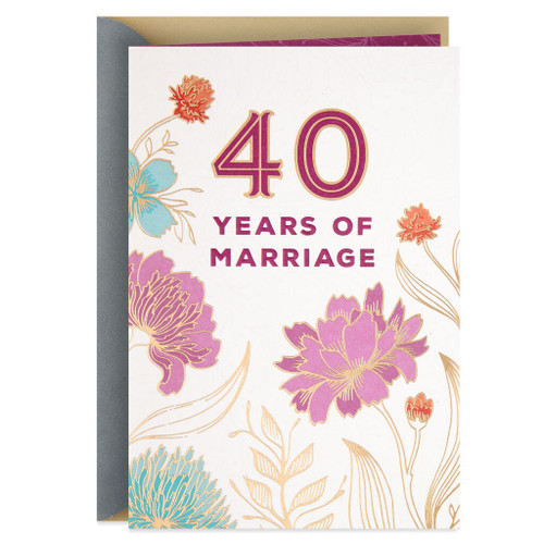 You Belong Together 40th Anniversary Card