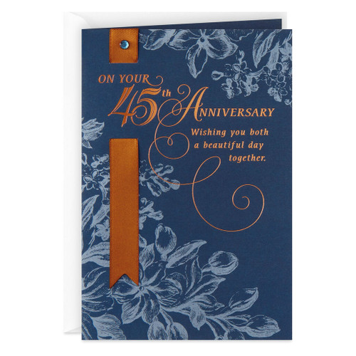 Enjoy Your Day 45th Anniversary Card