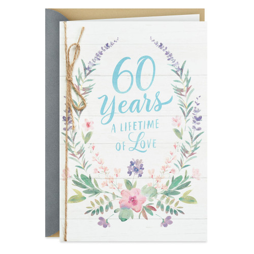 Love Is Everything 60th Anniversary Card