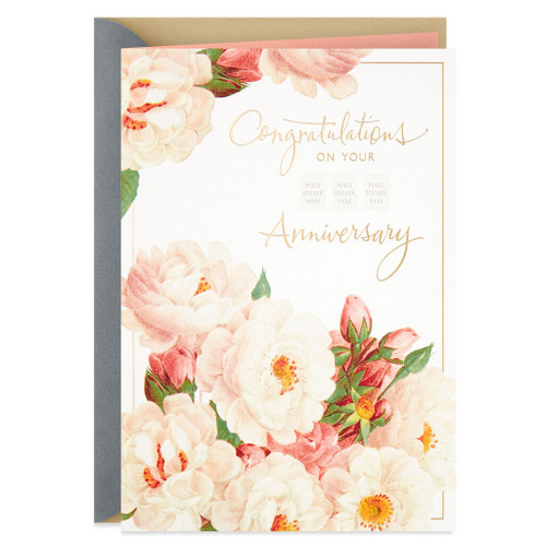 Rose Blossoms Pick a Year Anniversary Card
