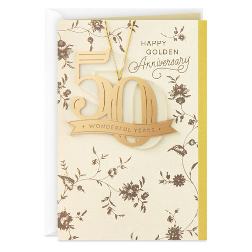 50 Wonderful Years Anniversary Card With Removable Keepsake
