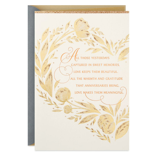 Yesterday's Memories and What Lies Ahead Anniversary Card