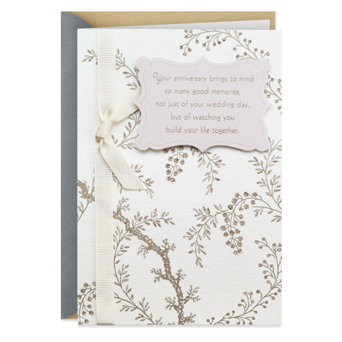 Flowering Branches Anniversary Card for Son and Daughter-in-Law
