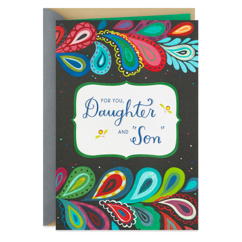 Paisley Anniversary Card for Daughter and Son-in-Law