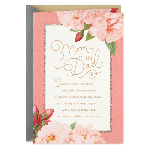 Flower Blossoms Anniversary Card for Parents
