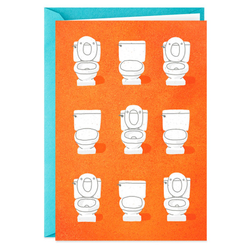 Another Year of Toilet Lid Fights Funny Anniversary Card