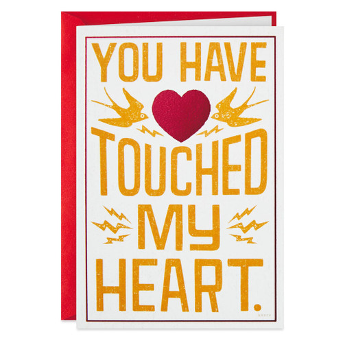 Boob Nearest My Heart Funny Birthday Card