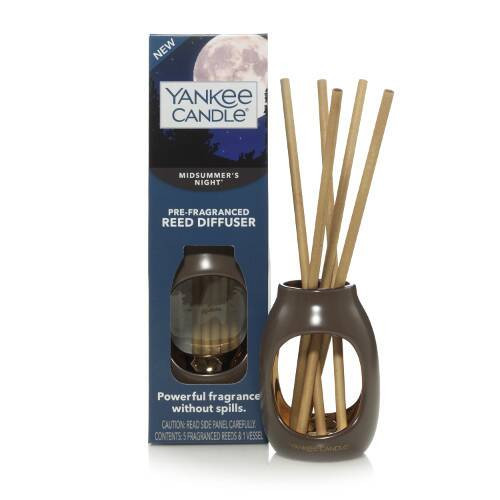 Yankee Candle Pre-Fragranced Reed Diffuser Set Midsummer's Night