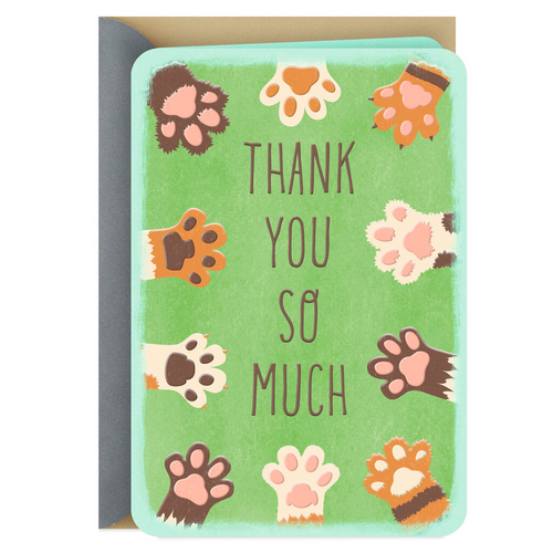 A Round of A-Paws Pet Caregiver Thank You Card
