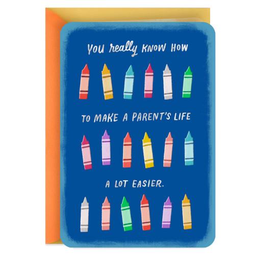 You Make a Parent's Life Easier Child Caregiver Thank You Card