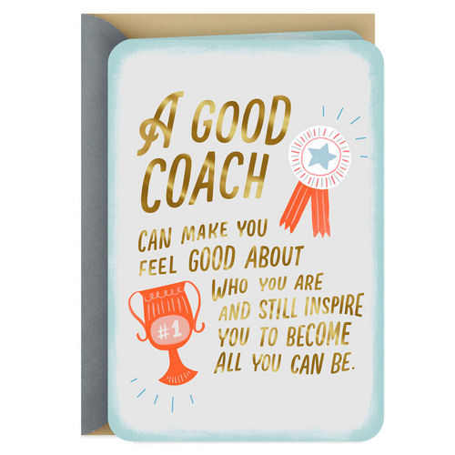 A Coach Who Supports and Inspires Thank You Card