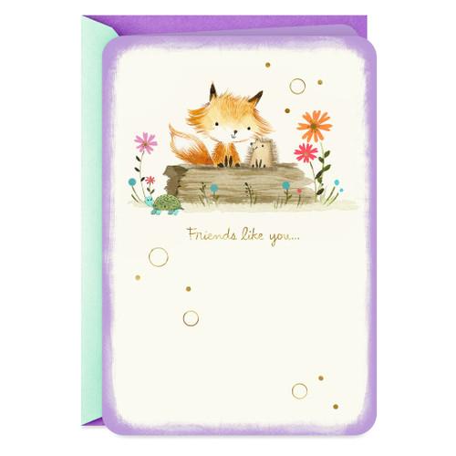 Fox and Hedgehog Friendship Card