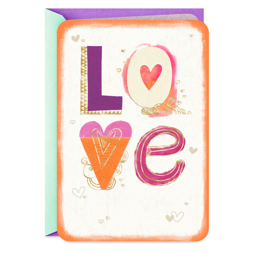 Colorful Letters Love Card