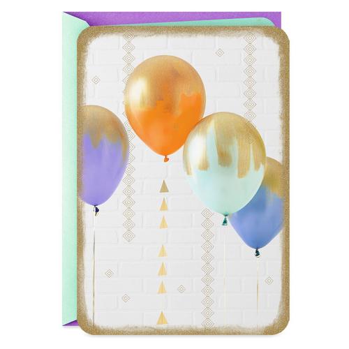 Balloons Blank Card