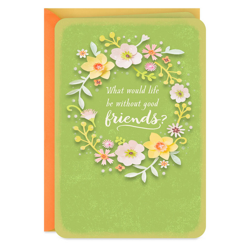 Flower Wreath Friendship Card
