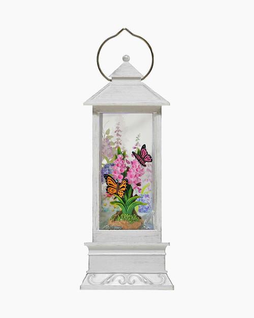 Spring LED Light-Up Glitter Lantern