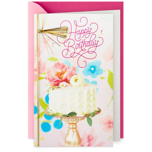 Cake Stand Wishes for Love and Happiness Birthday Card
