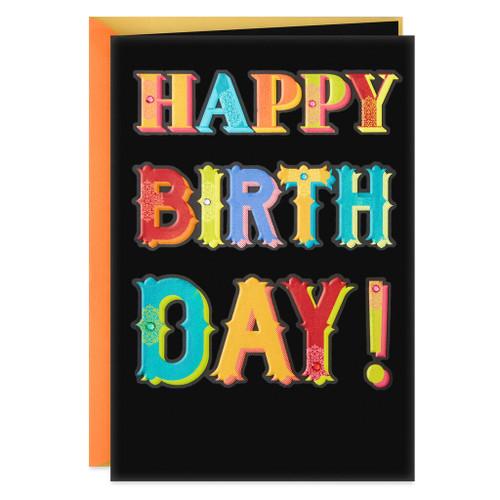 Food, Friends and Fun Birthday Card